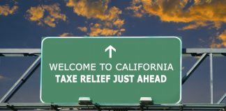 california tax relief